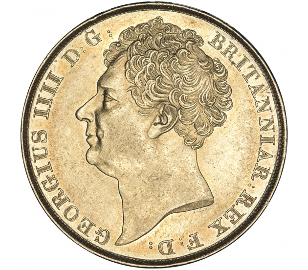 1823 George IV Gold Two Pound Rare Coins