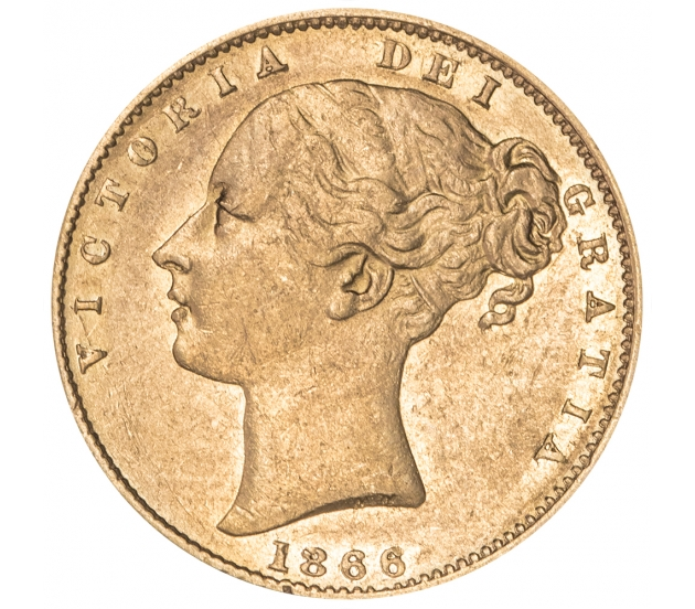 1866 Queen Victoria Shield Reverse Sovereign