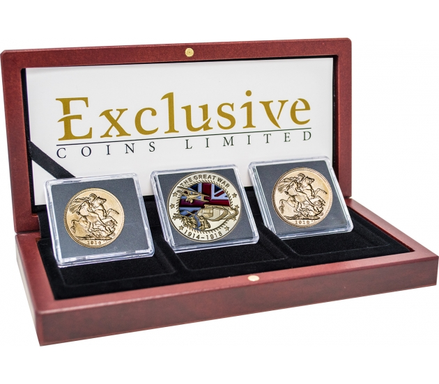 George V World War I Three Coin Collection