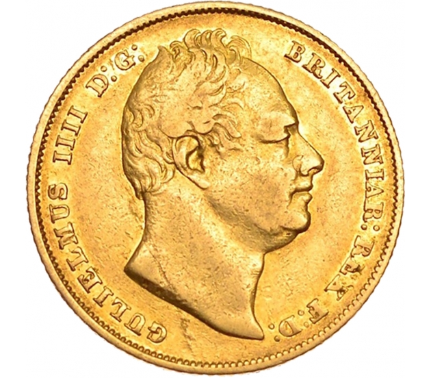 1831 William IV Shield Reverse Sovereign