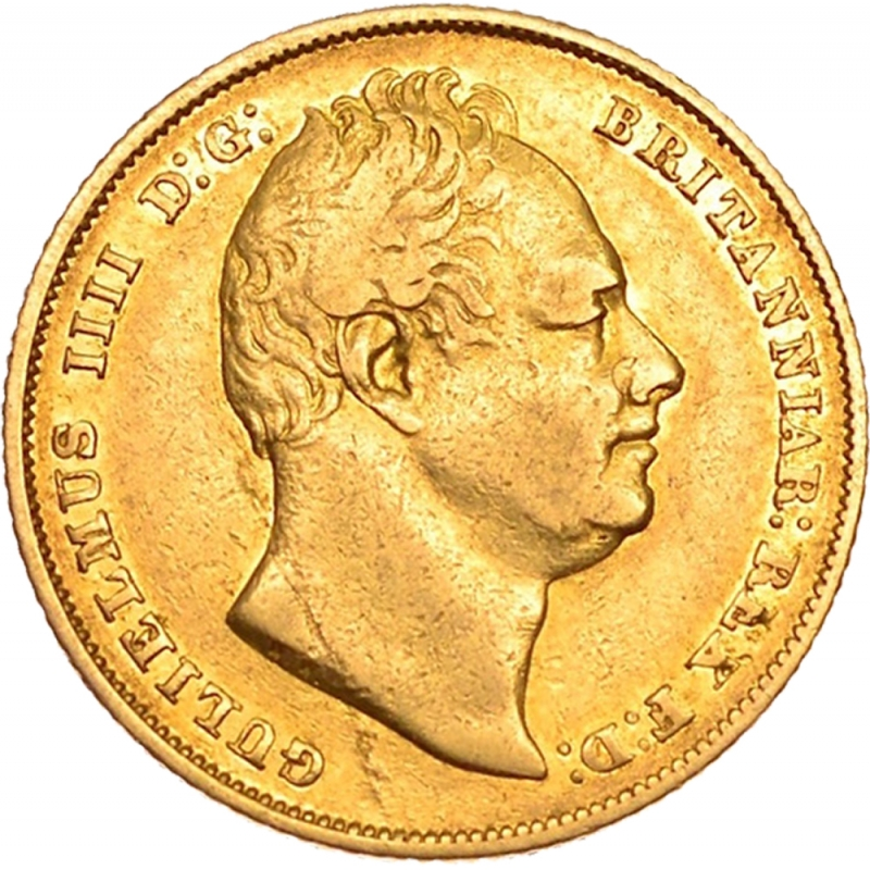 1831 William IV Shield Reverse Sovereign