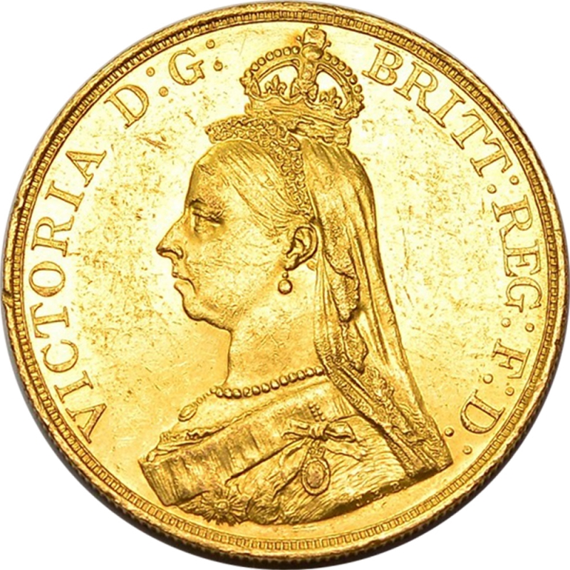 1887 Queen Victoria Jubilee Gold Five Pound