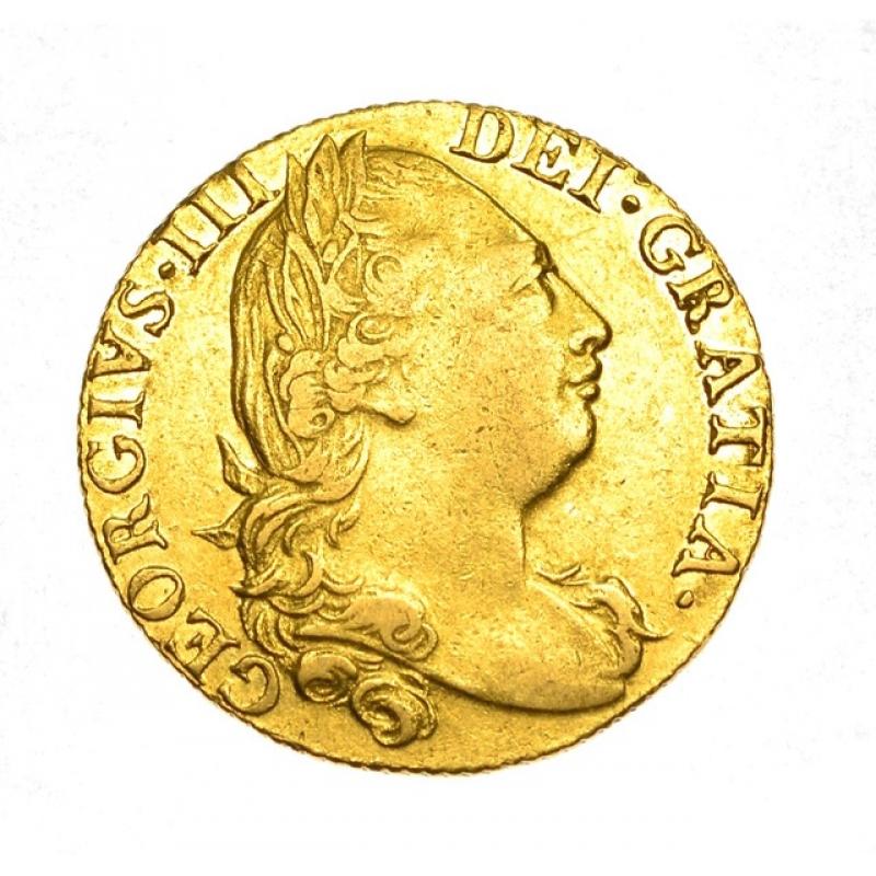 1777 George III Gold Shield Reverse Guinea
