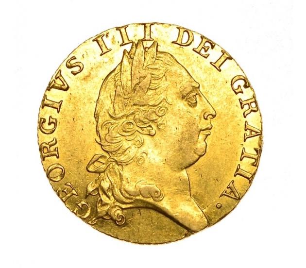 1790 George III Gold Spade Reverse Guinea