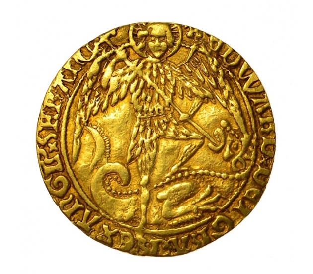 1471 - 1483 Edward IV Hammered Gold Angel