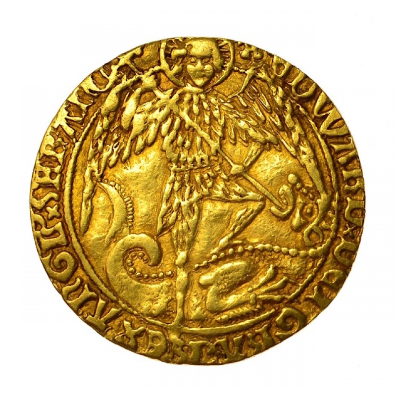 1471 - 1483 Edward IV Hammered Gold Angel
