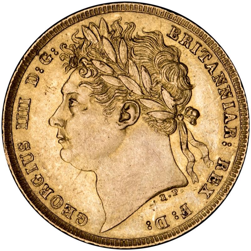 1821 George IV Laurette Head Sovereign