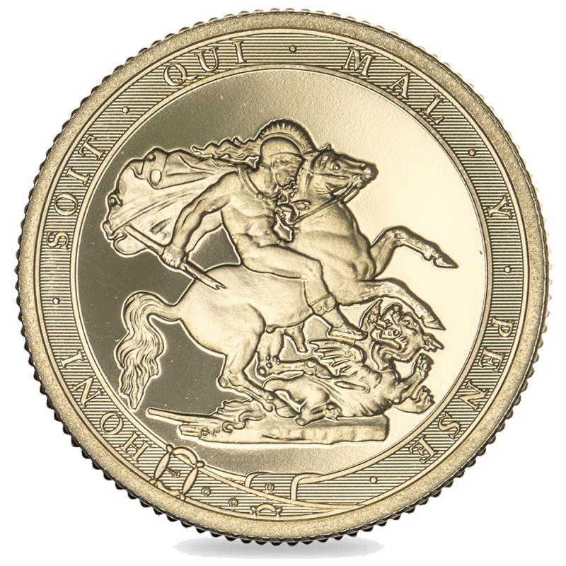 2017 Queen Elizabeth II Brilliant Unc Gold Five-Pound