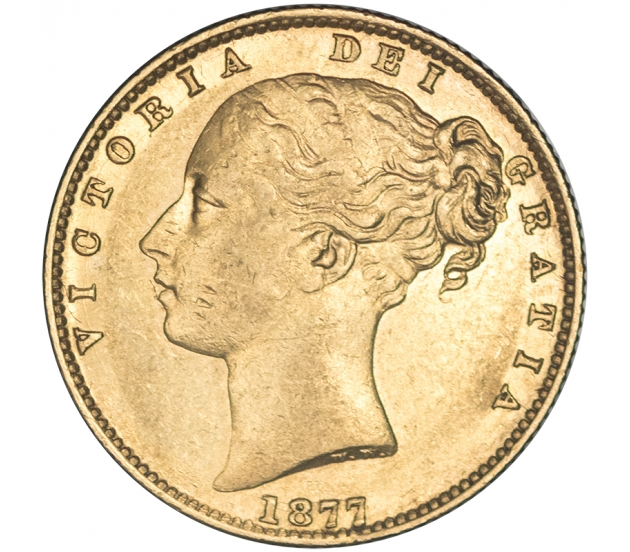 1877 Queen Victoria Sydney Shield Sovereign