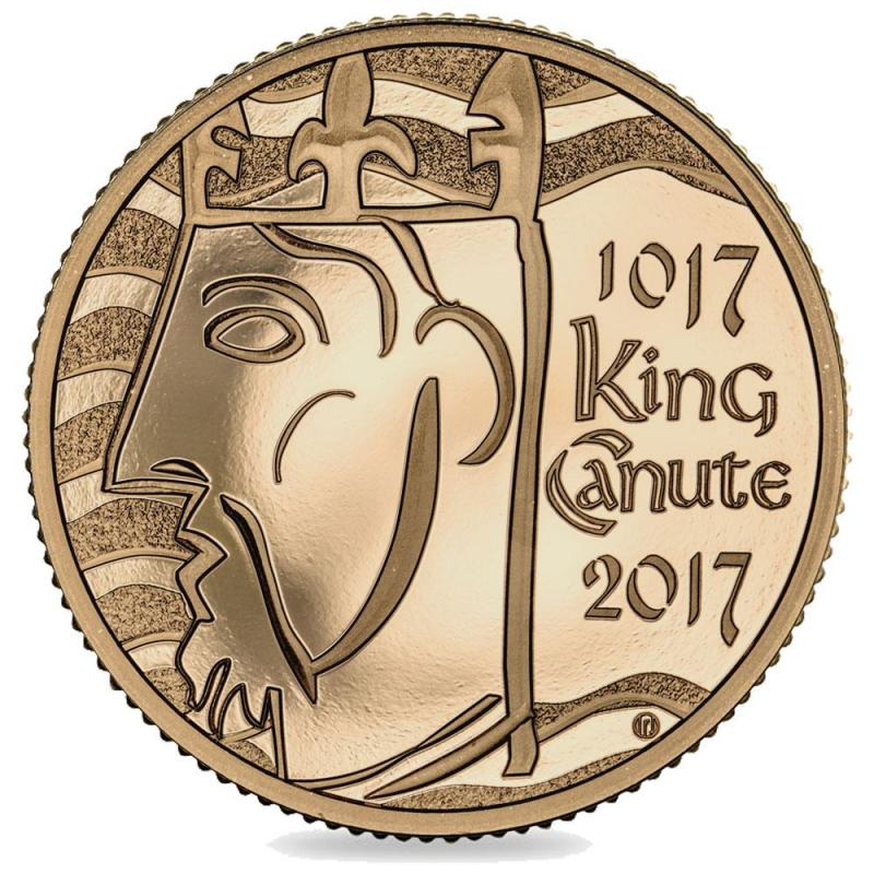 2017 Anniversary of King Canute Proof Gold Five Pound