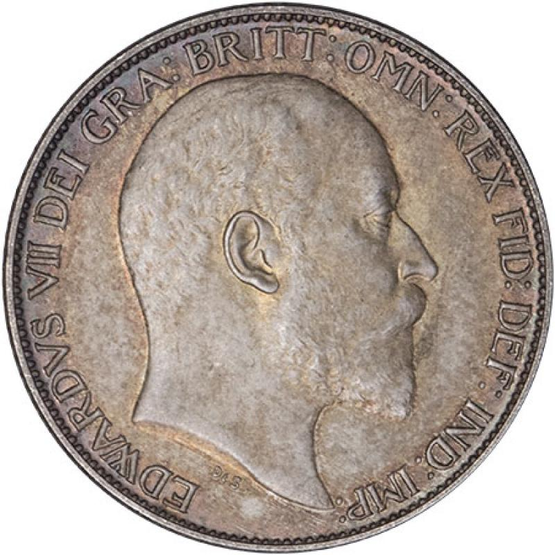 1902 Edward VII Matte Proof Sixpence