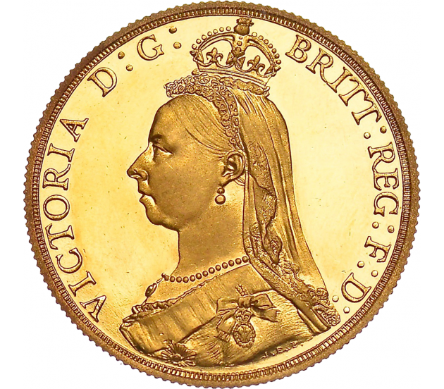 1887 Queen Victoria Jubilee Proof Gold Two Pound