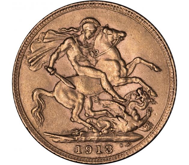 1913 London George V Gold Sovereign