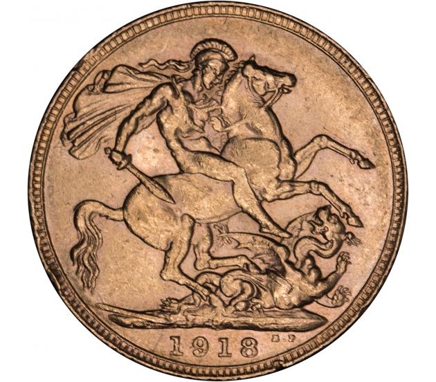 1918 Perth George V Gold Sovereign