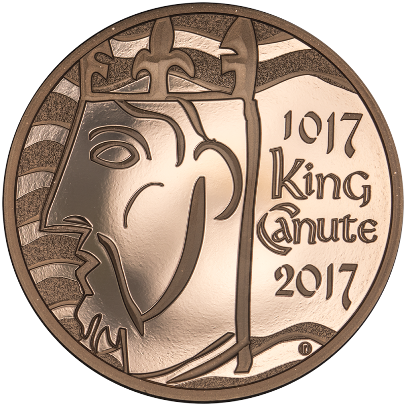 2017 Proof Coronation of KING CANUTE Gold Five Pound