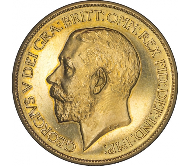 1911 George V Proof Gold Five Pound