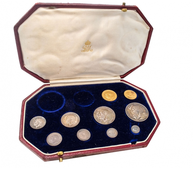 1911 George V Proof Short Set in Long Set Case