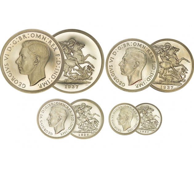 1937 George VI 4-Coin Proof Set