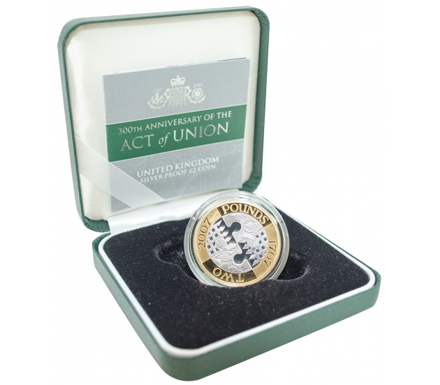 300th Anniversary of the Act of Union - Two Pound, £2