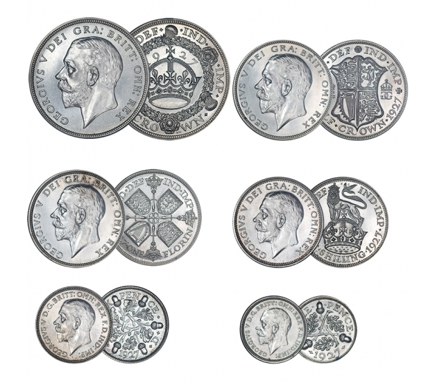 1927 George V 6-Coin Silver Proof Set