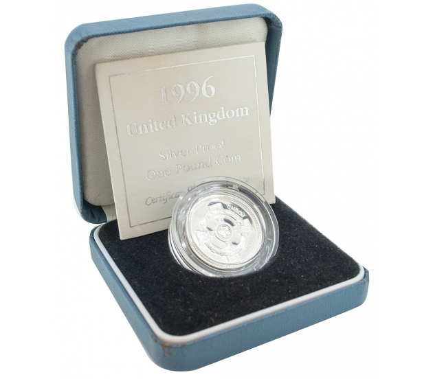 1996 Royal Mint Silver Proof One Pound Coin, £1