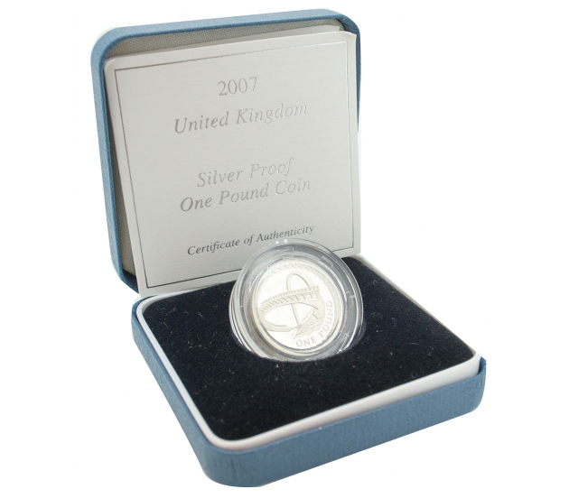 2007 Royal Mint Silver Proof One Pound Coin, £1