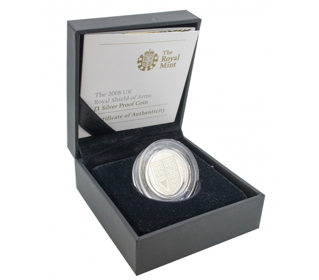2008 Royal Mint Silver Proof One Pound Coin, £1