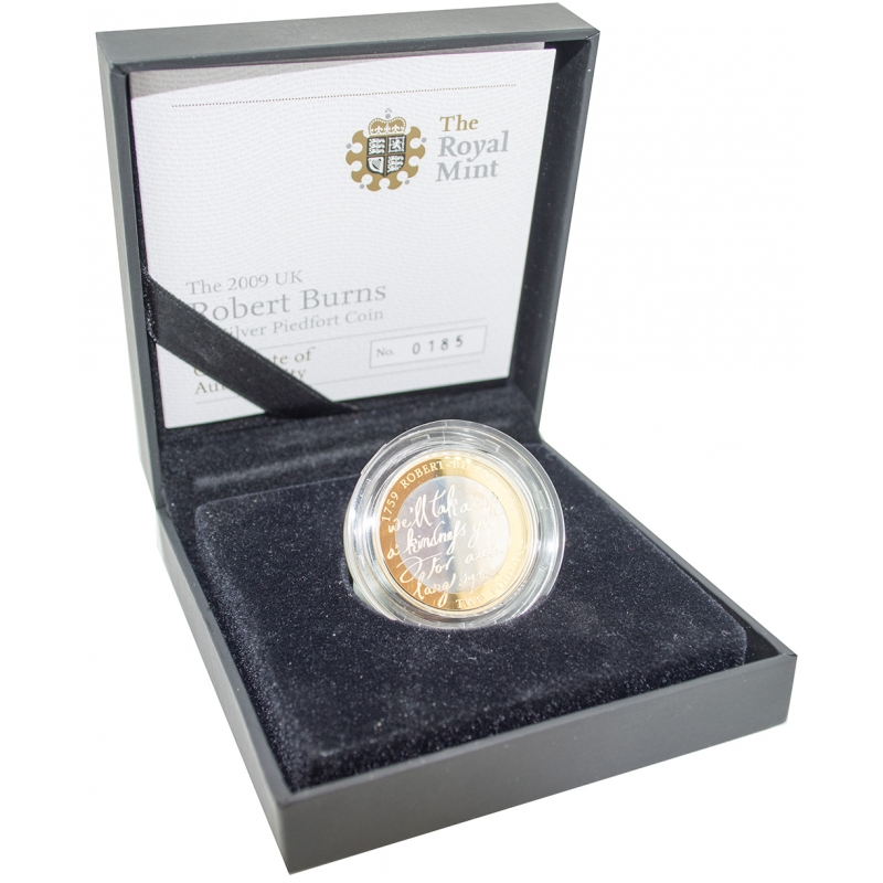 2009 Silver Proof Robert Burns Two Pound, £2
