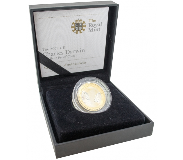 2009 Silver Proof Charles Darwin Two Pound, £2