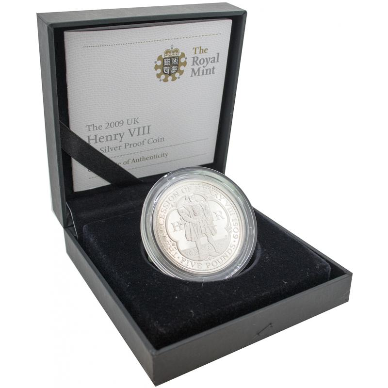 2009 Silver Proof Henry VIII Five Pound, £5