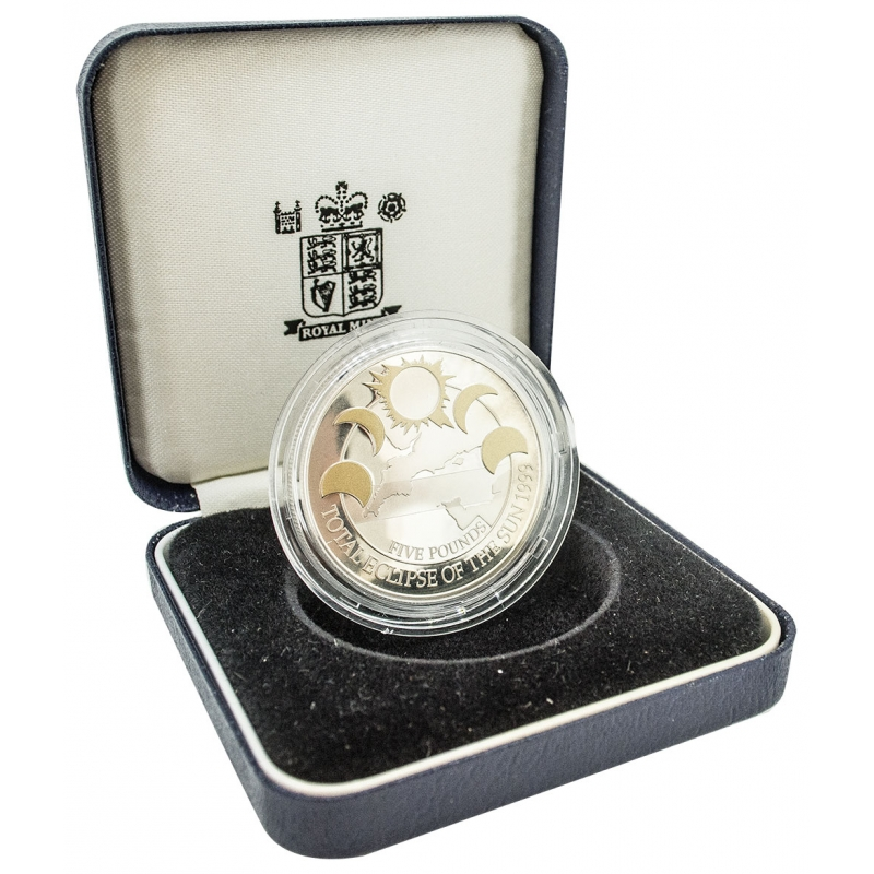 1999 Alderney Eclipse Silver Proof Five Pound, £5