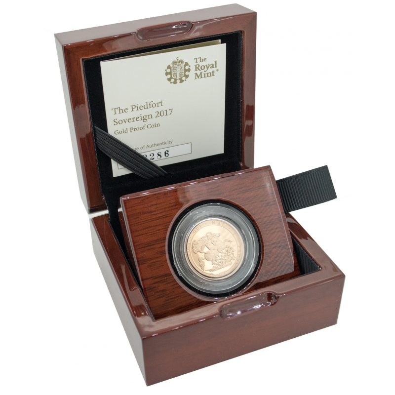 2017 Queen Elizabeth II Proof Piedfort Gold Sovereign
