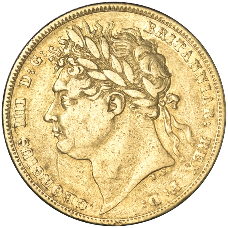 1823 George IV Laurette Head Sovereign