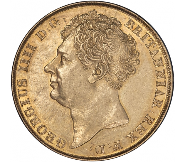 1823 George IV Gold Two Pound Rare Scarce First Issue