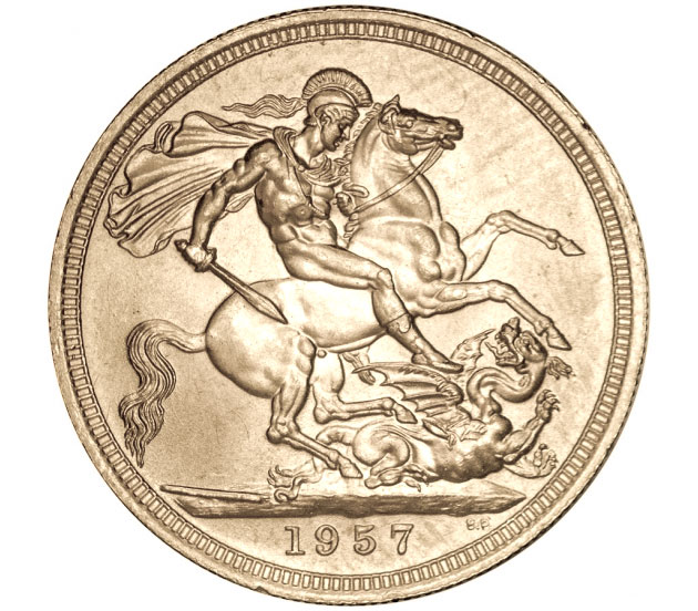 1957 Queen Elizabeth II Gold Sovereign