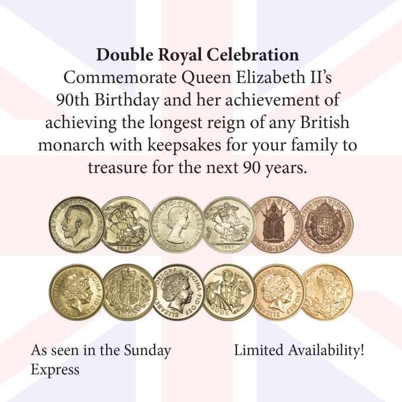 Six highly collectable, significant coins struck in Her Majesty's lifetime