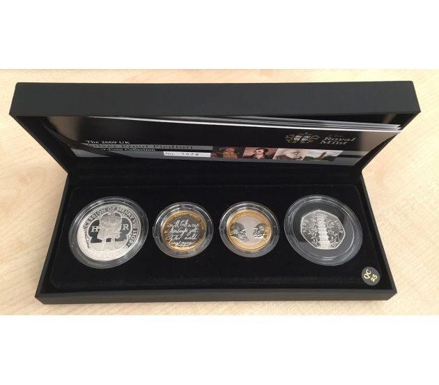 2009 UK Silver Proof PIEDFORT Four-Coin Collection