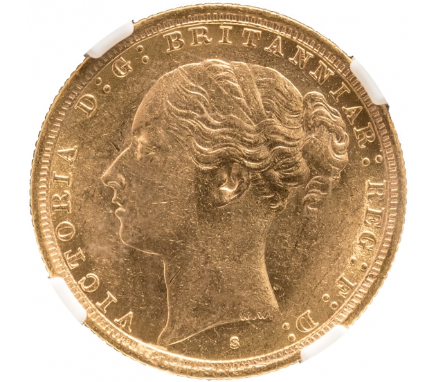 1887 Queen Victoria Young Head Sydney G&D Sovereign
