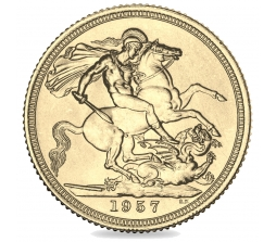 1957 Queen Elizabeth II Gold Sovereign