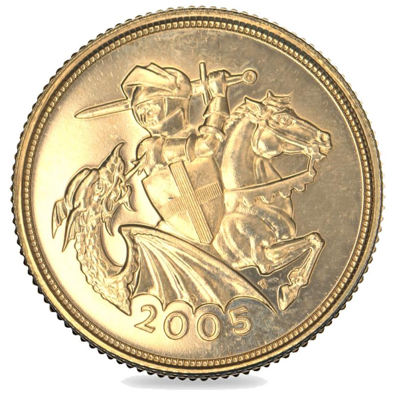 2005 Queen Elizabeth II Gold Art-Deco Sovereign