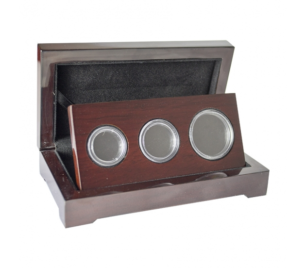 Three Coin Set Case for Double, Single and Half Sovereign (Gloss Finish)