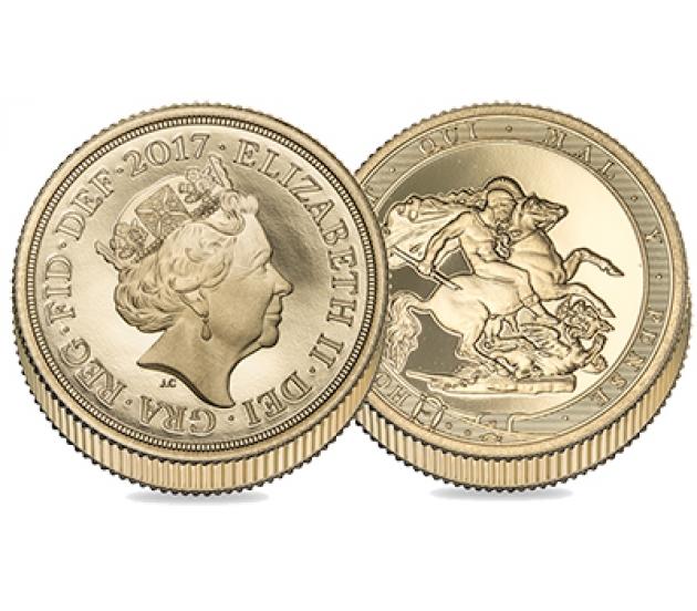 2017 Queen Elizabeth II Proof Piedfort Gold Sovereign