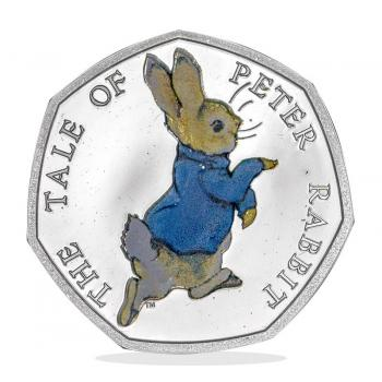 Peter Rabbit 2017 50p Silver Proof Coin