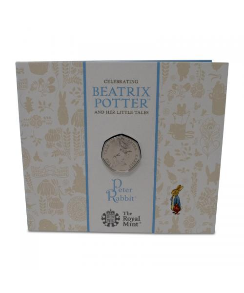 An image of the Peter Rabbit 2019 UK 50p Brilliant Uncirculated Coin