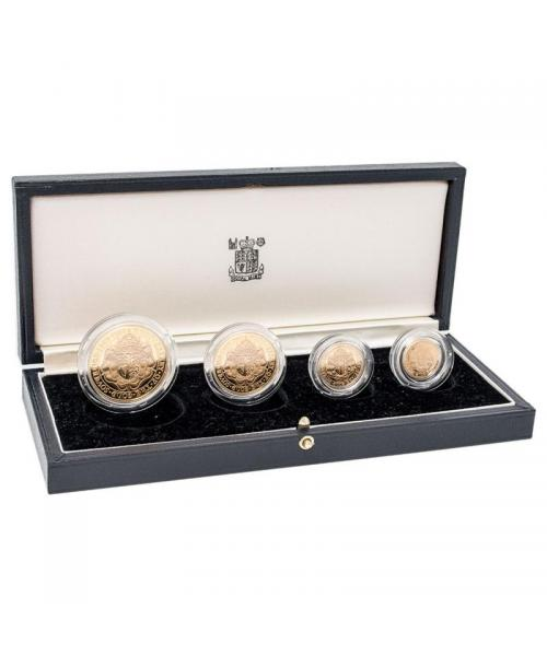 1980 Queen Elizabeth II Gold Proof Four Coin Collection