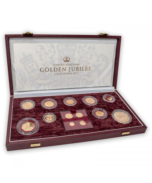 2002 Golden Jubilee 13 Gold Proof Coin Collection
