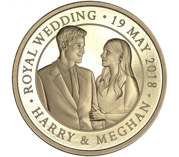 Royal Wedding Proof Gold Five Pound - 2018