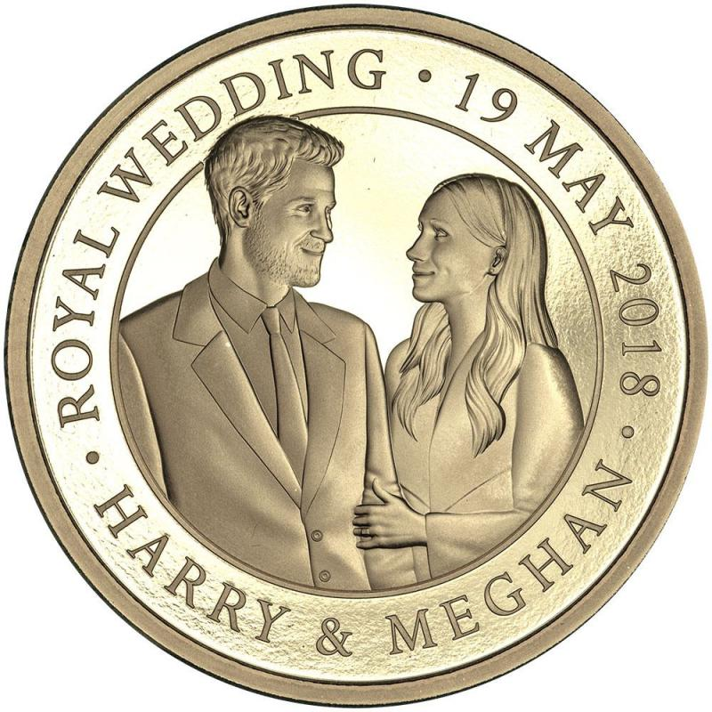 Royal Wedding Proof Gold Five Pound - 2018