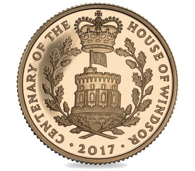 2017 House of Windsor Queen Elizabeth II Proof Gold Five Pound