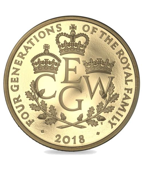 2018 Four Generations Five Pound Coin UK